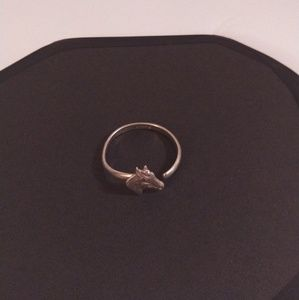 Sterling horse head ring, Vintage Victor